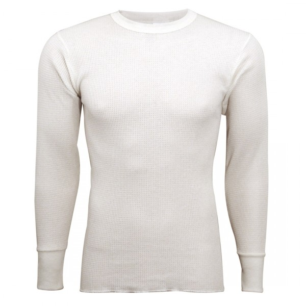 68ba35c2f Indera Mills Lightweight Cotton Polyester Blend Waffle Knit Thermal  Underwear Top for Men