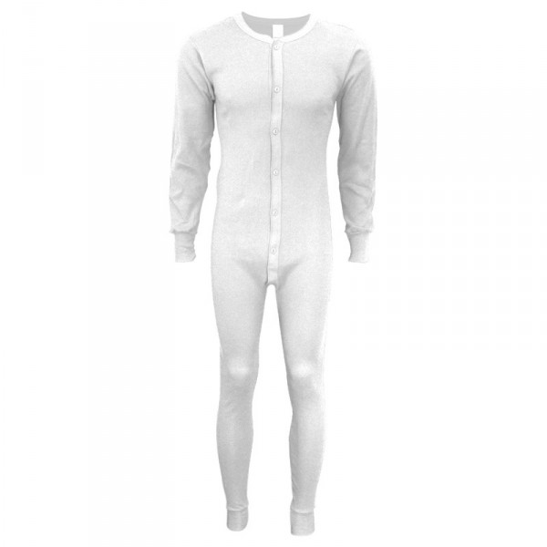 Indera Mills 100% Cotton White Union Suit Long Johns For Men for Men
