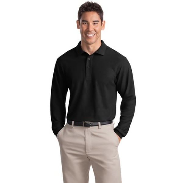 d333a7276 Port Authority Long Sleeve Silk Touch Polo for Men